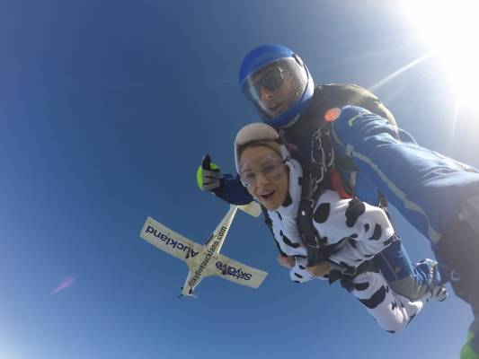 SPCA Jump To The Rescue At Skydive Auckland