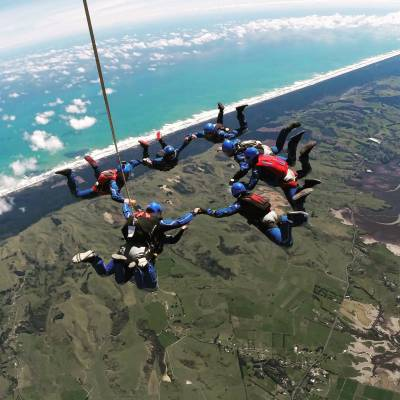 The Highest Tandem Skydive in New Zealand 20,000ft At Skydive Auckland