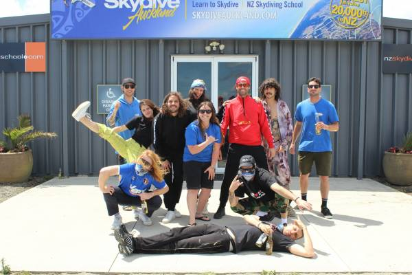 Sticky Fingers At Skydive Auckland