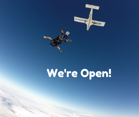 Skydive Auckland Open For Level 2