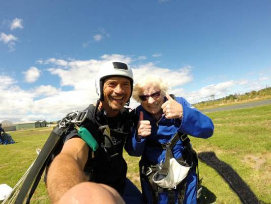 Tandem Skydiving at 90 Years Old!