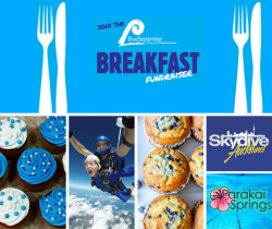 Blue September Breakfast at Skydive Auckland